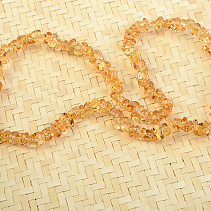 Citrine necklace of smooth piece 45cm