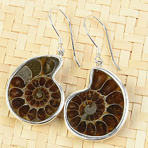 Ammonite earrings Ag 925/1000 8.8g