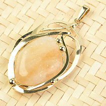 Citrine pendant montage jewelery metal gold 49mm