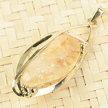 Citrine pendant montage jewelery metal 52mm