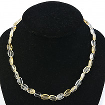 Citrine Necklace 47cm Ag Agatement
