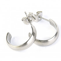 Steel earrings for women 15mm