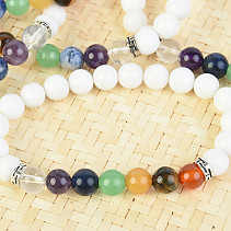 White quartz bracelet and chakra 8mm balls