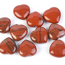 Jasper red heart 25mm