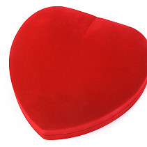 Velvet gift box heart of red 17 x 16mm