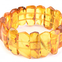 Luxury amber bangle with insect rarity 27.7g
