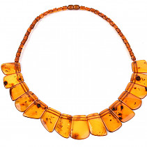 Exclusive necklace of honey red amber 46cm (22.5g)