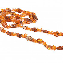 Exclusive amber honey necklace (89.4g) 125cm
