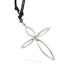 Surgical steel - pendant cross typ074