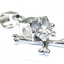 Surgical steel - pendant skull typ085