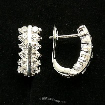 Ag zircon earrings white - typ052