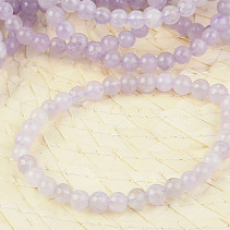 Amethyst light bracelet 6mm balls
