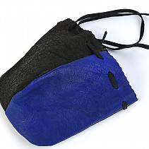Black and blue leather pocket