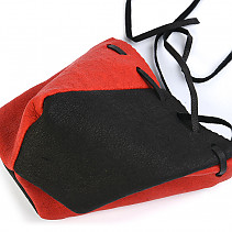 Leather holster black - red
