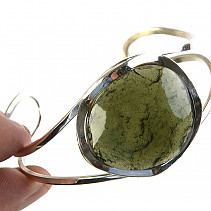 Bangle with moldavite Ag 925/1000 24.83g