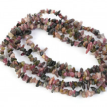 Turmaline color necklace fine chopped shapes 90cm