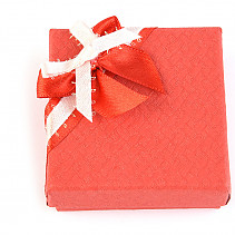 Gift box paper red with ribbon 6 x 6cm