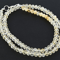 Citrine Necklace Button Brush 5mm 45cm
