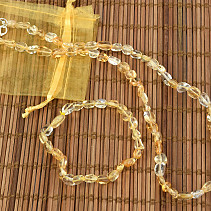 Gift set of citrine jewelry bracelet + necklace 50cm troml mini
