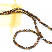 Jewelry set tiger eye ball 6mm