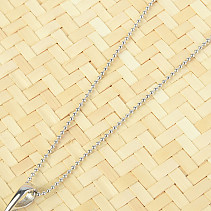 Silver chain 45cm Ag 925/1000 (approx. 2.1g) rhodium plated
