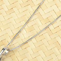 Silver chain 45cm Ag 925/1000 (approx. 1.8g) rhodium plated