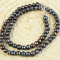 Necklace with dark pearls 50cm