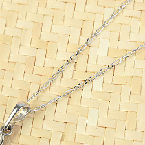 Silver chain Figaro 55cm Ag 925/1000 (approx. 2.1g) rhodium plated