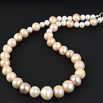 Rainbow Pearl Necklace 50cm Ag fastening
