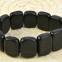Shungite bracelet plated rectangle 21 x 15mm