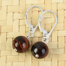 Bull's Eye Earring Ball 8mm Ag Hooks