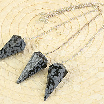 Pendulum obsidian flaky on the chain