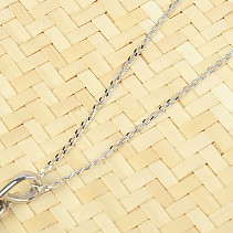 Silver chain 45cm Ag 925/1000 (approx. 1.2g) rhodium plated