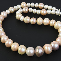 Pearls Rainbow Necklace 50cm Ag fastening
