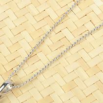 Silver chain ball 50cm Ag 925/1000 + Rh (approx. 2.2g)