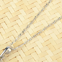 Silver Chain Figaro 50cm Ag 925/1000 + Rh (approx. 1.9g)