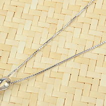 Silver chain 55cm Ag 925/1000 (approx. 2.0g) rhodium plated