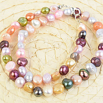 Necklace colored pearls mix 45cm