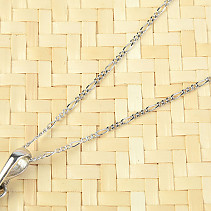 Silver Chain Figaro 50cm Ag 925/1000 + Rh (approx. 1.6g)
