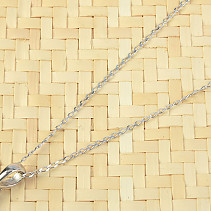 Silver chain 42cm Ag 925/1000 (approx. 1.1g) rhodium plated