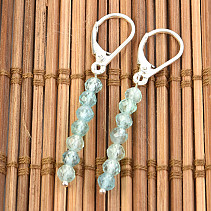 Apatite Ball Bearing Earrings 4mm Ag Hooks