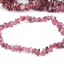 Garnet rodolite bracelet chopped extra pieces