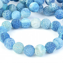 Agate blue dyed 12mm bracelet