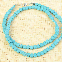 Necklace turquoise heart 6mm 50cm