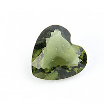 Moldavite cut heart 9 x 9mm standard cut
