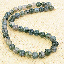 Agate mossy necklace beads 10mm 50cm