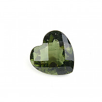 Moldavite cut heart 12mm checker top