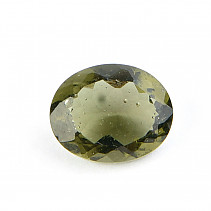 Moldavite oval 10 x 8mm standard cut