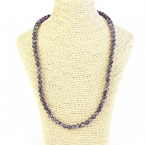 Amethyst ball necklace 6mm 48cm