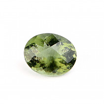 Moldavite oval 9 x 7mm standard brush
